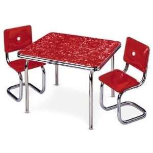 American Girl Mollys Table & Chair Red  Toys & Games