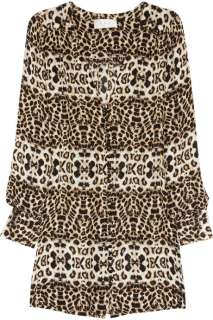 Daisy animal print silk crepe dress   50% Off Now at THE OUTNET
