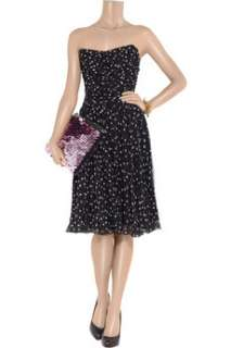 Dolce & Gabbana Star print silk chiffon bustier dress   45% Off Now at