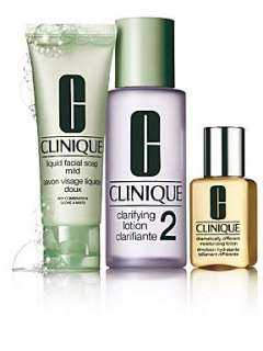 Clinique 3 Step Intro Set. Skin Type 2  Dry/Combination   House of