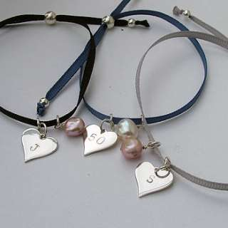 ribbon and silver friendship bracelet by seahorse