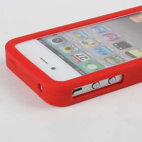 Game Boy Design Soft Silicon Case with Screen Protector for iPhone 4