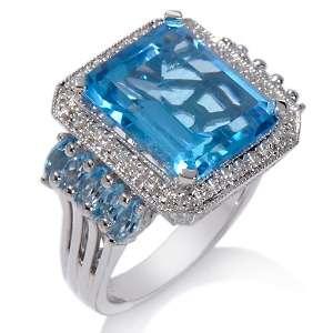 Ramona Singer 11.65ct Swiss Blue Topaz and Diamond Sterling Silver