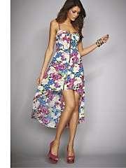 Paprika Zip Front Floral Printed Dress