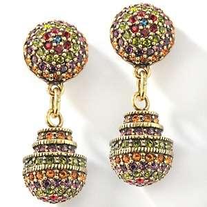 Heidi Daus Museum Madness Crystal Ball Drop Earrings