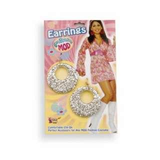 Halloween Costumes Silver Glitter Earrings