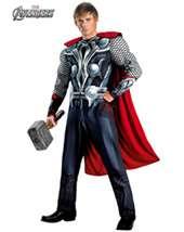 MENS CLASSIC MUSCLE AVENGERS THOR COSTUM   cartoon   mens costumes
