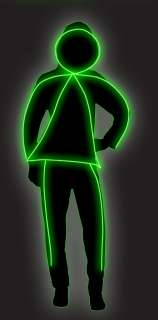 GlowGirl Teen Costume  Glowing Stick Figure Girl Halloween Costume