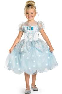 Disney Princess Cinderella Light Up Deluxe Child Costume for Halloween