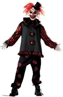 Scared of clowns? You will be! Demented, grinning evil clown costume