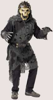Living corpse set includes skull mask, rotted look tunic, belt and