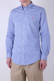 Blue Bengal Stripe Button Down Shirt by Polo Ralph Lauren   Blue   Buy
