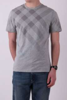 Pale Grey Faded Check T Shirt by Burberry Brit Brit   Grey   Buy T