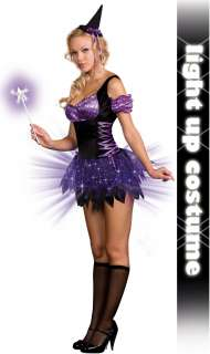 Switch Witch (Light Up) Adult Costume   Includes: Dress, wand, hat and