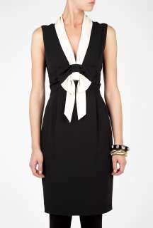 Moschino Cheap & Chic  Contrast Bow Sleeveless Dress by Moschino