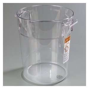 Clear Plastic   Round Food Storage Containers   Twenty Two (22) Quart