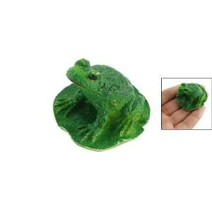 Como For Aquarium Ceramic Green Frog Design Decor Ornament