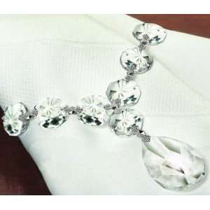 CRYSTAL NAPKIN RINGS   SET OF 4 HAND CRAFTED 30% LEAD