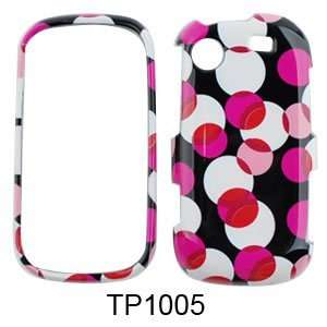 Messager Touch R630 Muiti Pink Polka Dots on Black Hard Case/Cover