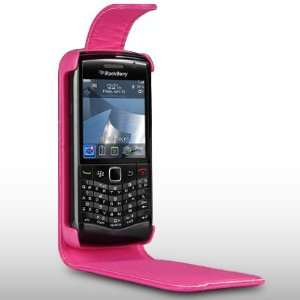 BLACKBERRY 9105 PEARL HOT PINK SOFT PU LEATHER FLIP CASE