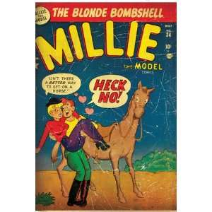 Marvel Comics Retro Millie the Model Comic Book Cover #34, Getting on