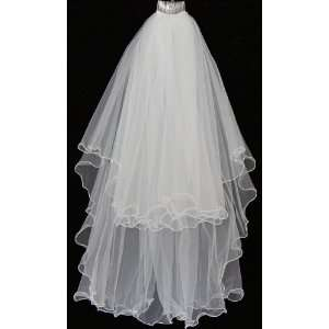 Ivory or White Beads Wedding Bridal Veil with Comb Bridal Accessories
