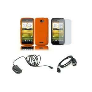 Mobile) Premium Combo Pack   Orange Silicone Soft Skin Case Cover