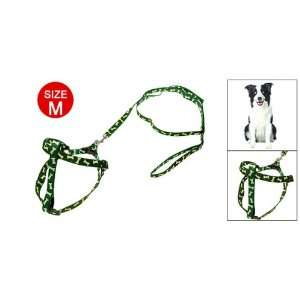 Como Doggie Dog Nylon Pulling Harness Leash Bone Pattern: Pet Supplies