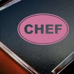 Chef Euro Oval Pink Decal Car Truck Bumper Window Pink