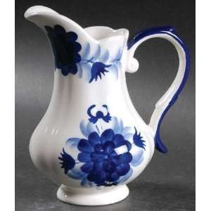 Pottery Flower 10 Oz Pitcher, Fine China Dinnerware: Kitchen & Dining