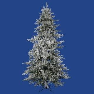 Slim Snow Flocked Layered Utica Fir Artificial Christmas Tree   Unlit