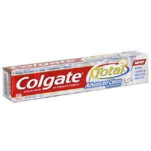 Colgate Total Toothpaste, Advanced Clean Plus Whitening, 6