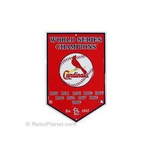 St. Louis Cardinals Cooperstown Collection Metal Sign