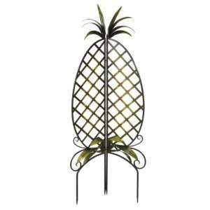 Antique Brown Folding Corner Trellis in Pineapple Motif
