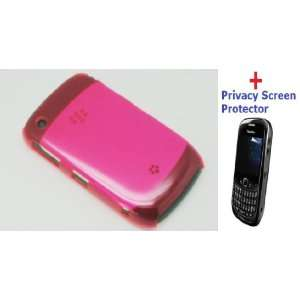 Premium HOT PINK Crystal Clear Back Cover Flexible Plastic Snap On
