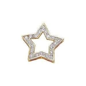 Ziamond Cubic Zirconia Pave Star Pendant Jewelry