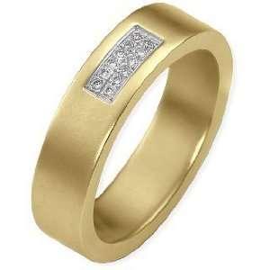 14 Karat Yellow Gold Diamond Anniversary Band   10: Dora Rings