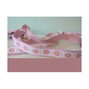 Pink Daisy Dog Harness   Large