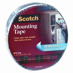 Scotch® Double Sided Mounting Tape, Removable, Gray, 1