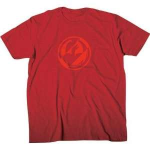 Dragon Alliance Two Tone T Shirt, Red, Size Lg 723 2180 RED LG