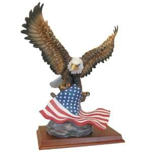 Eagle Figurine American Bald Eagle Wildlife Collectible Statue