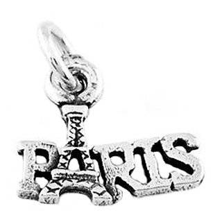Plated 3D Paris Eiffel Tower Charm 22mm (1) Arts, Crafts & Sewing