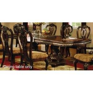 Formal Dining Table with Extension Leaf in Cherry Finish