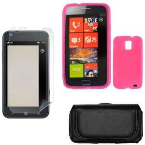 Samsung Focus S i937 Combo Solid Hot Pink Silicone Skin Case Faceplate