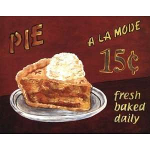 Pie A La Mode   Poster by Beth Franks (14x11): Home & Kitchen