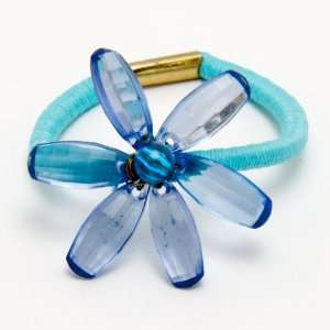 Blue Flower Stretch Hair Rubber Band Beauty