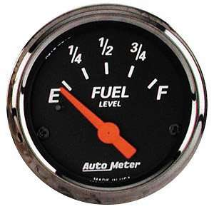 Auto Meter 1417 Black 2 1/16 Fuel Level Gauge Automotive
