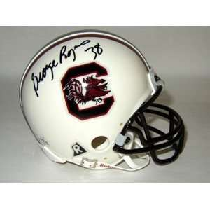 George Rogers Signed Gamecocks Mini Helmet Sports