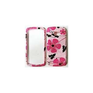 LG ALLY VS740 Pink Flower Graphic Design Hard Rubberized