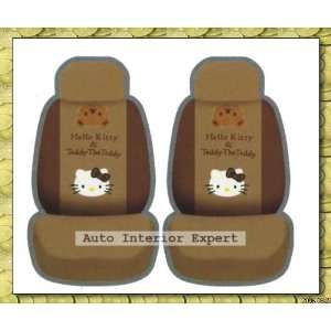 10PCS HELLO KITTY W/TEDDY BEAR UNIVERSAL CAR SEAT COVER